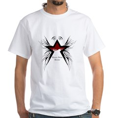Black Star Logo White White T-Shirt