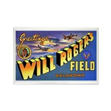 Will Rogers Field Oklahoma Rectangle Magnet