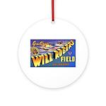Will Rogers Field Oklahoma Ornament (Round)