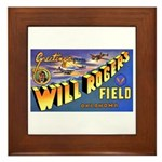 Will Rogers Field Oklahoma Framed Tile