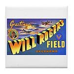 Will Rogers Field Oklahoma Tile Coaster