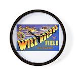 Will Rogers Field Oklahoma Wall Clock