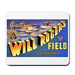 Will Rogers Field Oklahoma Mousepad