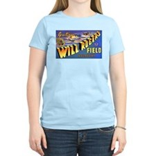 Will Rogers Field Oklahoma Women's Pink T-Shirt
