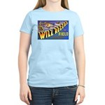 Will Rogers Field Oklahoma (Front) Women's Pink T-