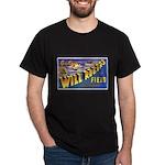 Will Rogers Field Oklahoma (Front) Black T-Shirt