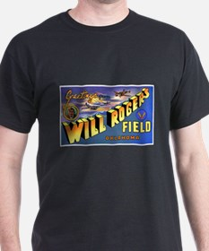 Will Rogers Field Oklahoma (Front) Black T-Shirt