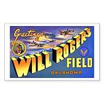 Will Rogers Field Oklahoma Rectangle Sticker