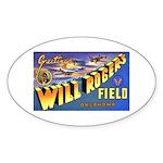 Will Rogers Field Oklahoma Oval Sticker