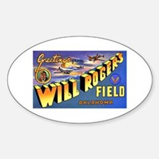 Will Rogers Field Oklahoma Oval Decal