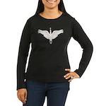Beadwork Mute Swan Women's Long Sleeve Dark T-Shir