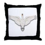 Beadwork Mute Swan Throw Pillow