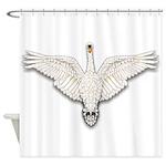 Beadwork Mute Swan Shower Curtain