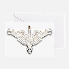 Beadwork Mute Swan Greeting Card