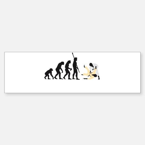Evolution Judo A 3c.png Sticker (Bumper)