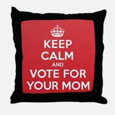 K C Vote Your Mom Throw Pillow