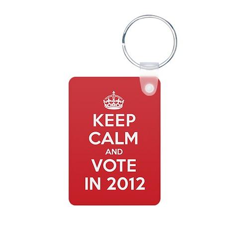 K C Vote In 2012 Aluminum Photo Keychain