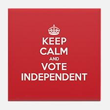 K C Vote Independent Tile Coaster