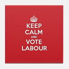 K C Vote Labour Tile Coaster