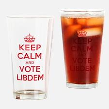 K C Vote Libdem Drinking Glass