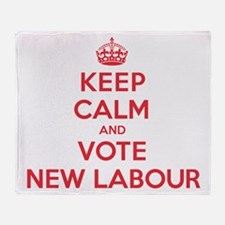 K C Vote New Labour Throw Blanket
