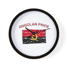Angolan Pride Wall Clock