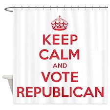 K C Vote Republican Shower Curtain
