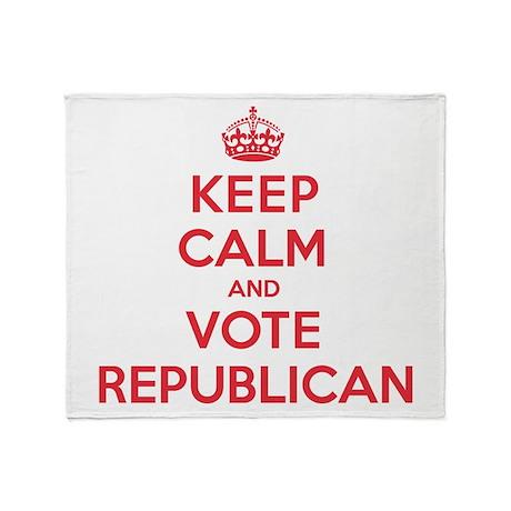 K C Vote Republican Throw Blanket