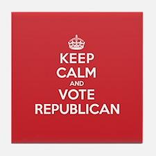 K C Vote Republican Tile Coaster