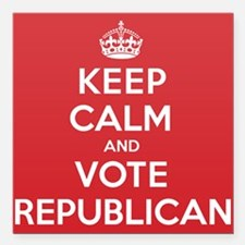 "K C Vote Republican Square Car Magnet 3"" x 3"""