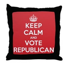 K C Vote Republican Throw Pillow
