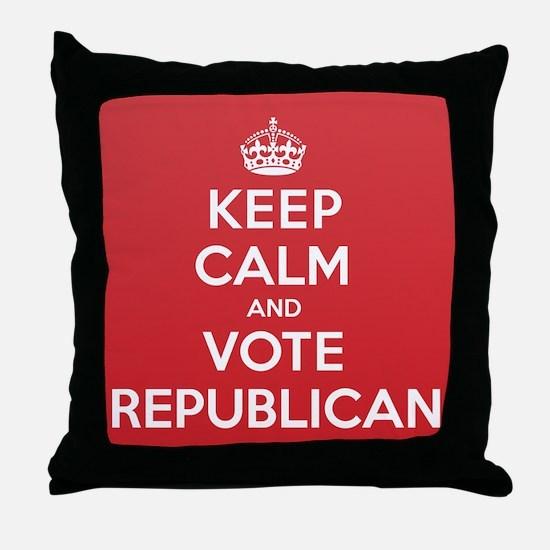 K C Vote Republican Throw Pillow