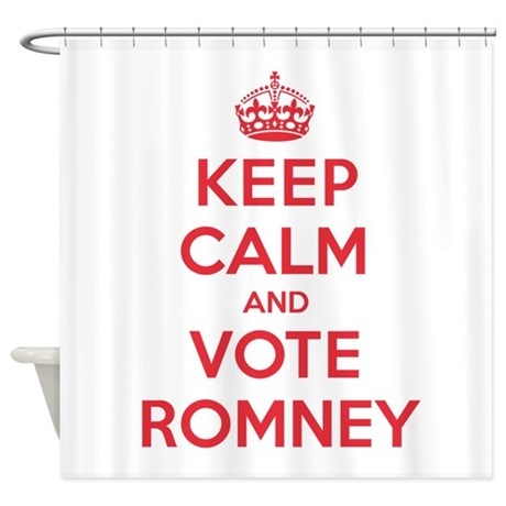 K C Vote Romney Shower Curtain