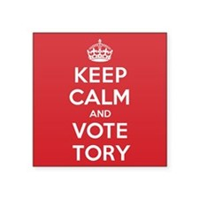 "K C Vote Tory Square Sticker 3"" x 3"""