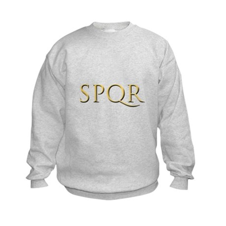 Gold Latin SPQR Kids Sweatshirt