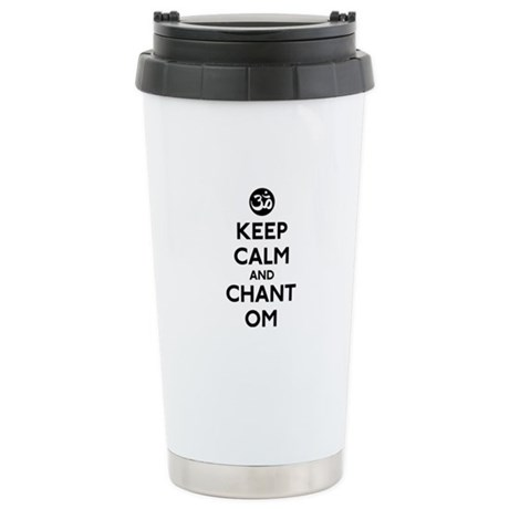 Keep Calm and Chant Om Stainless Steel Travel Mug