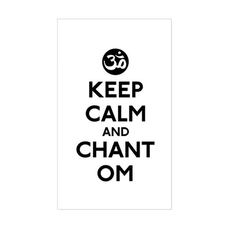 Keep Calm and Chant Om Sticker (Rectangle)