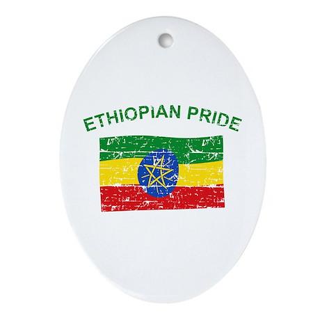 Ethiopian Pride Ornament (Oval)