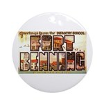 Fort Benning Georgia Ornament (Round)