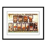 Fort Benning Georgia Large Framed Print