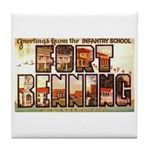 Fort Benning Georgia Tile Coaster