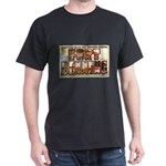Fort Benning Georgia (Front) Black T-Shirt