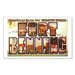 Fort Benning Georgia Rectangle Sticker