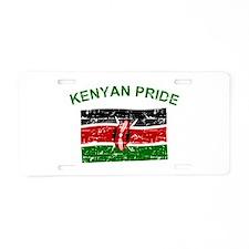 Kenyan Pride Aluminum License Plate
