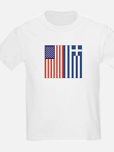 US and Greece Kids T-Shirt