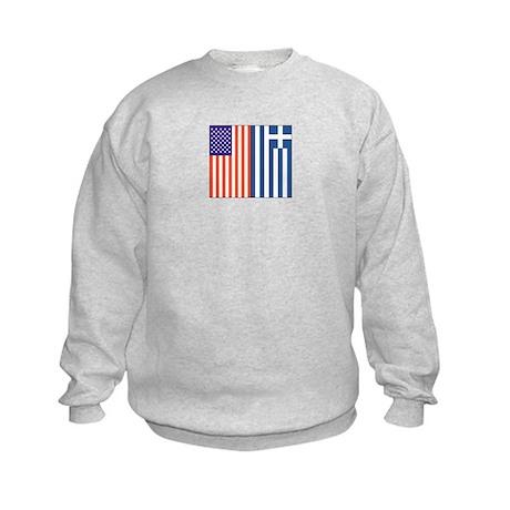 US and Greece Kids Sweatshirt