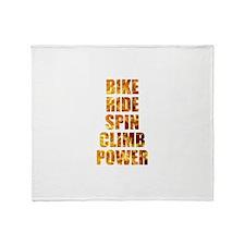 Bike Ride Power Throw Blanket