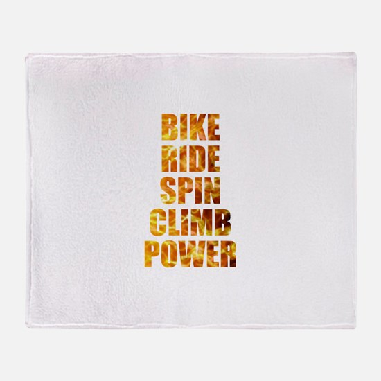 Bike Ride Power Throw Blanket