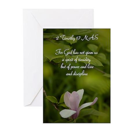 2 Timothy 1 7.jpg Greeting Cards (Pk of 20)