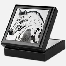 Leopard Appaloosa Colt pencil drawing Keepsake Box